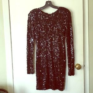 french connection black sequined dress